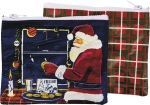 I Believe Santa Zipper Wallet Travel Pouch from Primitives by Kathy