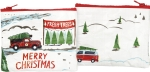 Truck & Tree Merry Christmas Zipper Wallet Travel Pouch from Primitives by Kathy