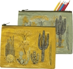 Cactus Desert Scene Zipper Pouch Travel Bag from Primitives by Kathy