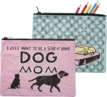 Stay At Home Dog Mom Zipper Pouch Travel Bag from Primitives by Kathy