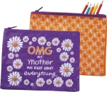 OMG My Mother Was Right About Everything Zipper Pouch Travel Bag from Primitives by Kathy