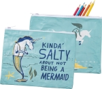 Kinda' Salty About Not Being A Mermaid Zipper Pouch Travel Bag from Primitives by Kathy