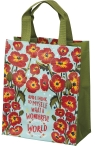 What A Wonderful World Nylon Daily Tote Bag from Primitives by Kathy