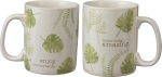 Enjoy The Moments Double Sided Stoneware Coffee Mug 20 Oz from Primitives by Kathy