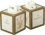 Be Kind Be Grateful Decorative Tissue Box Cover from Primitives by Kathy