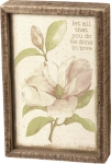Let All You Do Be Done In Love Decorative Inset Wooden Box Sign 6x9 from Primitives by Kathy
