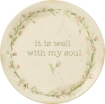 It Is Well With My Soul Decorative Dinner Plate 12 Inch from Primitives by Kathy