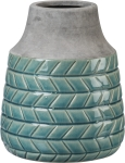 Tall Turquoise  Stoneware Vase from Primitives by Kathy