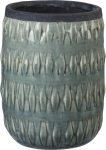 Textural Design Light Blue Stoneware Vase from Primitives by Kathy
