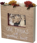 Give Thanks With A Grateful Heart Wooden Photo Picture Frame (Holds 6x4 Photo) from Primitives by Kathy