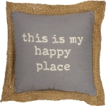 This Is My Happy Place Cotton Throw Pillow 10x10 from Primitives by Kathy