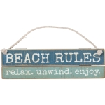 Beach Rules Relax Unwind Enjoy Decorative Hanging Ornament Sign from Primitives by Kathy