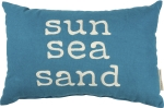 Sun Sea Sand Decorative Cotton Throw Pillow 15x10 from Primitives by Kathy