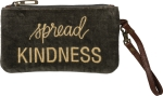 Spread Kindness Velvet Handbag Wristlet With Zipper from Primitives by Kathy