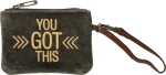 You Got This Small Velvet Wristlet Handbag With Leather Strap from Primitives by Kathy