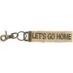 Embroidered Let's Go Home Velvet Key Chain from Primitives by Kathy