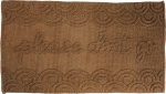 Tonal Brown Knobby Knit Please Don't Go Decorative Cotton Rug 32x20 from Primitives by Kathy