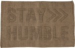 Tonal Light Brown Knobby Knit Stay Humble Decorative Cotton Rug 32x20 from Primitives by Kathy