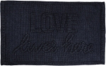 Tonal Blue Knobby Knit Love Lives Here Decorative Cotton Rug 32x20 from Primitives by Kathy