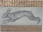 Weave Pattern Bunny Rabbit Decorative Wall Décor Sign 16x12 from Primitives by Kathy