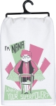 I'm Nana What's Your Superpower? Cotton Dish Towel 28x28 from Primitives by Kathy