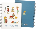 Take Time To Chill Spiral Notebook (120 Lined Pages) from Primitives by Kathy