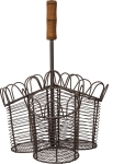 Three Sectioned Wire Flatware Holder Basket from Primitives by Kathy