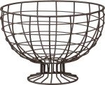 Round Wire Fruit Basket with Pedestal from Primitives by Kathy