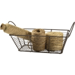 Small Rectangle Wire Basket With Dual Wooden Handles from Primitives by Kathy