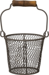 Small Wire Pencil Basket with Top Wooden Handle from Primitives by Kathy