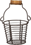 Round Mini Wire Basket With Handle from Primitives by Kathy