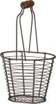 Mini Spring Wire Basket With Wooden Handle from Primitives by Kathy