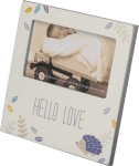 Porcupine Theme Hello Baby Love Decorative Photo Picture Frame (Holds 5x3 Photo) from Primitives by Kathy