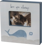 Blue Whale Design Love You Always Wooden Photo Picture Frame (Holds 6x4) from Primitives by Kathy