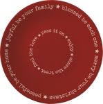 Enjoy Share The Treat Joyful Be Your Family Decorative Stoneware Blessing Plate 12 Inch from Primitives by Kathy