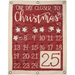 One Day Closer To Christmas Canvas Wall Banner Countdown Sign 24x30 from Primitives by Kathy