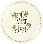 Holly Design Oh What Joy Decorative Stoneware Blessing Plate 12 Inch from Primitives by Kathy