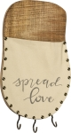 Spread Love Decorative Wooden Wall Pocket With Hooks from Primitives by Kathy