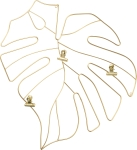 Monstera Leaf Wire Photo Holder from Primitives by Kathy