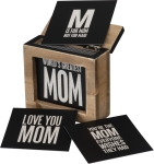 Words Of Wisdom Hinged Wooden Box With Mom Themed Cards from Primitives by Kathy
