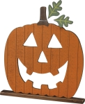 Large Jack O Lantern Shaped Decorative Wooden Home Décor Sign 19.5x20.5 from Primitives by Kathy