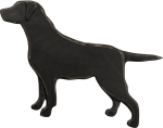 Wooden Black Lab Hanging Wall Décor from Primitives by Kathy