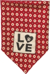 Small Cotton Love Dog Bandan from Primitives by Kathy