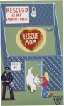 Dog Lover Rescued Is My Favorite Breed Enamel Pin With Greeting Card from Primitives by Kathy