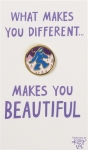 Yeti What Makes You Different Enamel Pin With Greeting Card from Primitives by Kathy