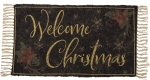 Welcome Christmas Decorative Cotton & Polyester Rug 34x20 from Primitives by Kathy