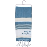 Sandy Toes & Salty Kisses Cotton Dish Towel 28x28 from Primitives by Kathy
