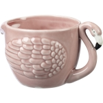 Pink Flamingo Shaped Stoneware Coffee Mug from Primitives by Kathy