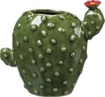 Cactus Themed Stoneware Vase from Primitives by Kathy