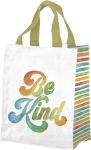 Watercolor Art Be Kind Daily Tote Bag from Primitives by Kathy